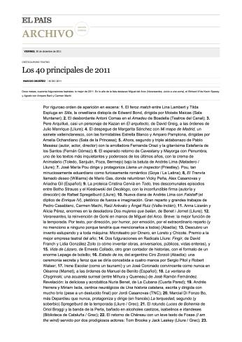 Los 40 principales de 2011