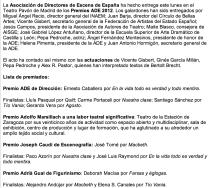 La Asociación de Directores de Escena de España entrega los Premios ADE PÁGINA1