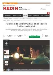 'El chico de la última fila' en el Teatro Galileo de Madrid, Madrid_Página_1