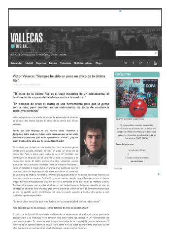 """Víctor Velasco_ """"Siempre he sido un poco un chico de la última fila"""" - Vallecas Digital_Página_1"""